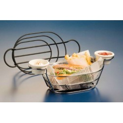 AMERICAN METALCRAFT - OBLONG WIRE BASKETS WITH RAMEKIN HOLDER