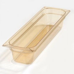 "CARLISLE - 10441B13 - FOOD PAN 4"" DP ½ SIZE - AMBER"