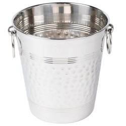 AMERICAN METALCRAFT - HAMMERED STAINLESS STEEL BUCKET